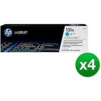 HP 131A Cyan Original LaserJet Toner Cartridge (CF211A)(4-Pack)