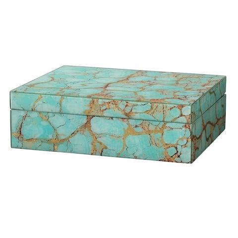 "10.25"" Turquoise Green Rectangular Storage Box"
