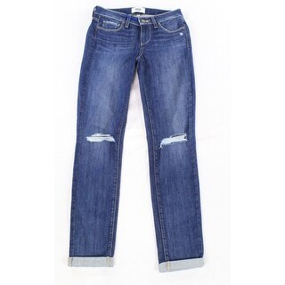 Paige NEW Womens Size 26X28 Kylie Cropped Stacey Destructed Jeans