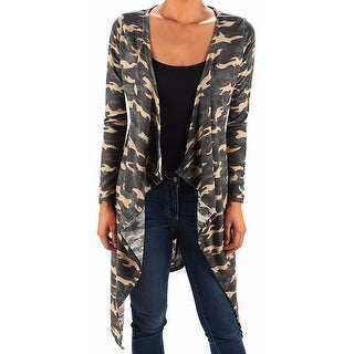 Funfash Plus Size Women Camo Green Kimono Duster Cardigan Made in USA