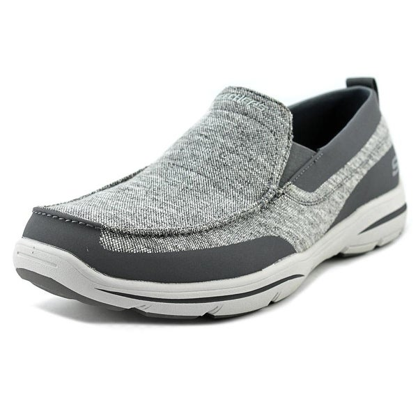 Skechers Harper - Moven Men Round Toe Canvas Gray Sneakers