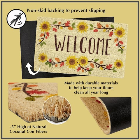 DII Seasonal Coir Doormat