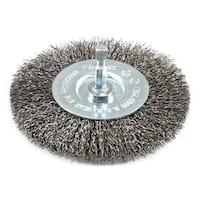 "Forney Industries 72739 Coarse Wire Crimp Wheel Brush, 4"""