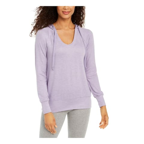 IDEOLOGY Purple Long Sleeve Hoodie Sweater M