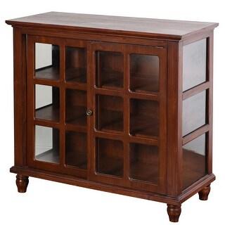 """StyleCraft SC-AF17147  Archer Ridge 34 1/4"""" Wide Wood Accent Cabinet with Sliding Door"""