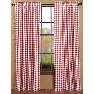 Buffalo Red Check Panel Lined Set of 2 #44; 84 x 40 in.