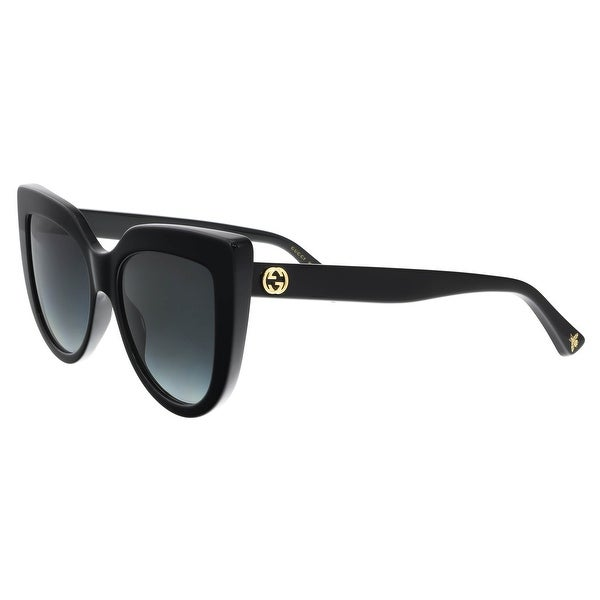 12a66e1c2f Shop GUCCI GG0164S 001 Black Cateye Sunglasses - Free Shipping Today ...
