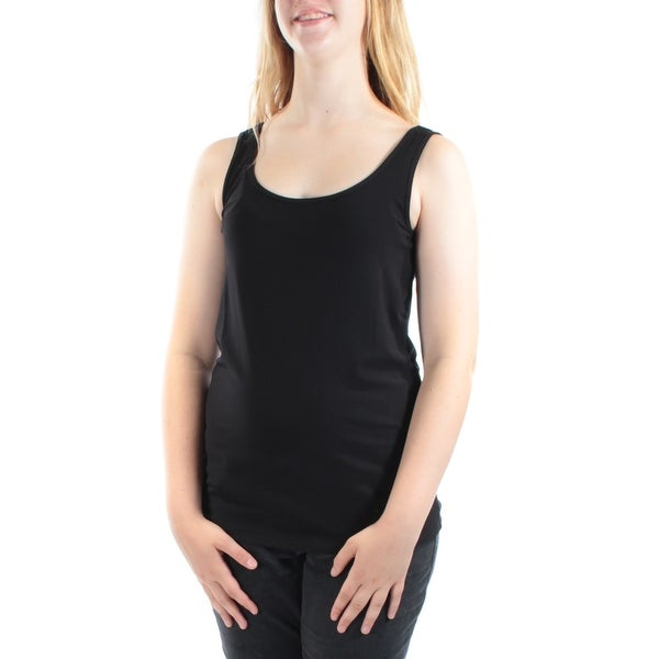 0ae3979fcdbb8 Shop ALFANI Womens Black Sleeveless Scoop Neck Vest Top Size  M - Free  Shipping On Orders Over  45 - Overstock - 21306441