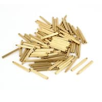 100 Pcs Male to Female Screw Brass Pillars Standoff Spacer M2x27mmx30mm