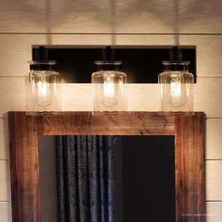 "Link to Luxury Modern Farmhouse Bathroom Vanity Light, 8.625""H x 21.625""W, with Industrial Style, Olde Bronze Finish by Urban Ambiance Similar Items in Bathroom Vanity Lights"