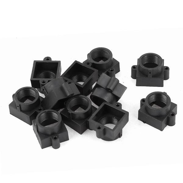 10 Pieces Black Plastic M12 20mm Hole Spacing Security CCTV Camera Lens Holder