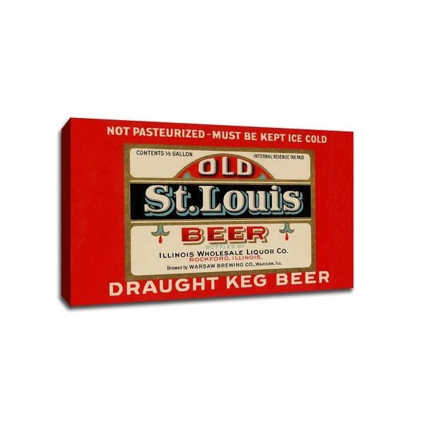 Old St. Louis Beer - Vintage Ads - 30x20 Gallery Wrapped Canvas Wall Art