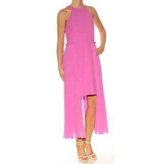 Womens Pink Sleeveless TeaLength Fit + Flare Casual Dress Size: 2