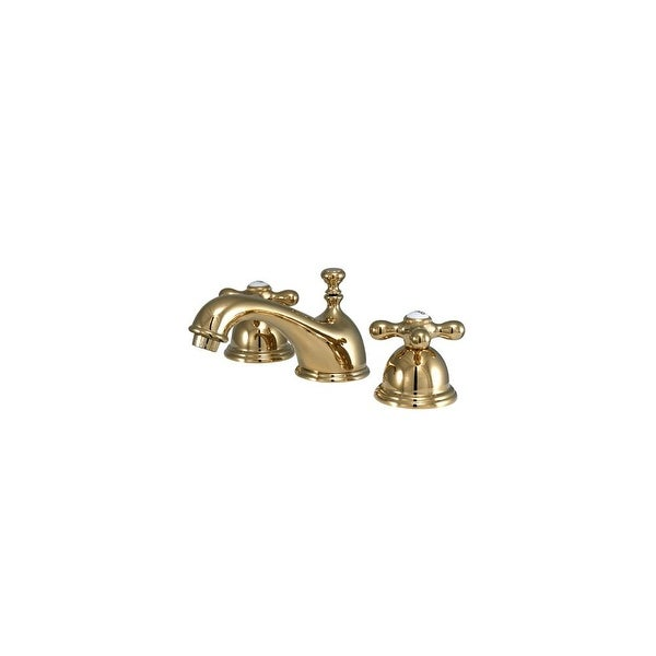 "Elements Of Design ES3962AX Double Handle 8"" to 16""Wspread Bathroom Faucet w/ American Cross Handles from the Chicago Collection"