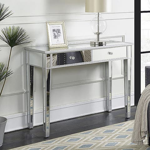 """41"""" Mirrored Makeup Table Desk Vanity for Women with 2 Drawers"""