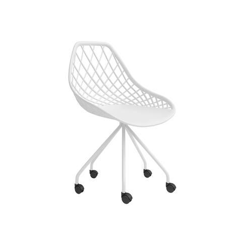 Jamesdar Kurv 5-Wheel Task Chair in White
