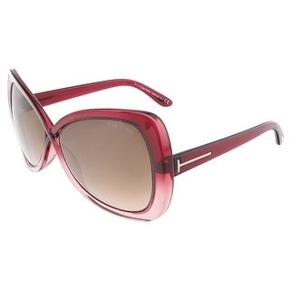 Tom Ford FT0277/S 68F JADE Pink Gradient Butterfly sunglasses