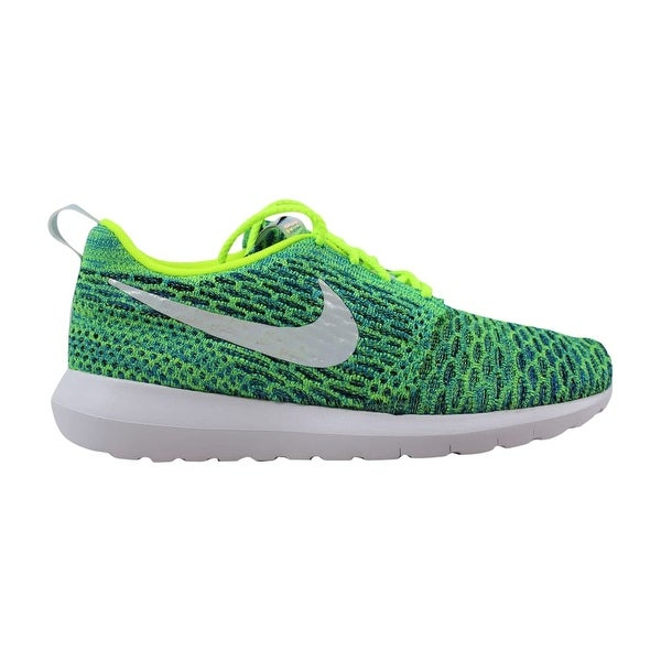 outlet store fb965 478fb Nike Women  x27 s Roshe NM Flyknit QS Volt Metallic Silver-Voltage