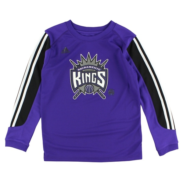 1e9ea9e9544282 Shop Adidas Boys Sacramento Kings Prestige Long Sleeve Shirt Purple -  purple white black - S - Free Shipping On Orders Over  45 - Overstock -  22615844