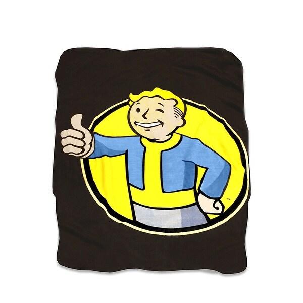 "Fallout Vault Boy 45""x60"" Fleece Throw Blanket - Multi"