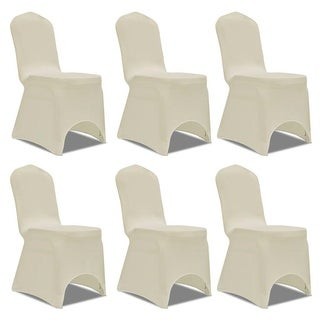 vidaXL Chair Cover Stretch Cream 6 pcs