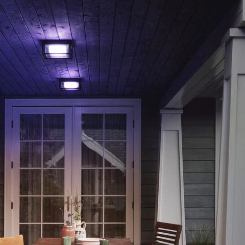 Philips Hue Econic Outdoor White & Color Wall & Ceiling Light Fixture (2-Pack) Bundle