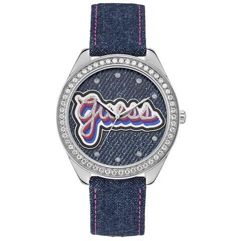 Guess Women's Drew U1276L1 Silver Nylon Quartz Fashion Watch