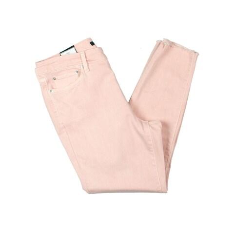 Lauren Ralph Lauren Womens Premier Colored Skinny Jeans Cropped High Rise