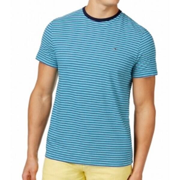 8e9c1ab7 Shop Tommy Hilfiger NEW Blue Mens Size XL Striped Crewneck Tee T ...
