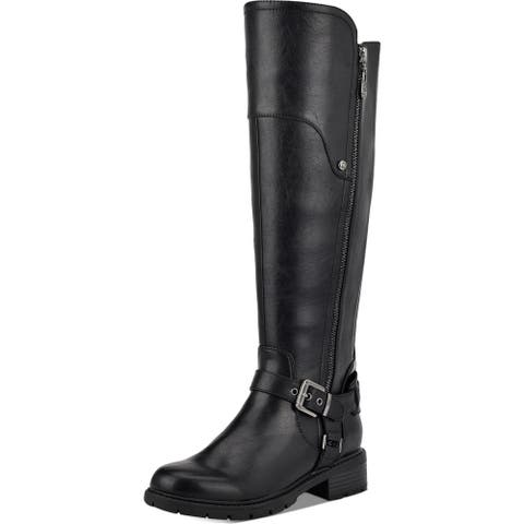 G by Guess Womens Tealin Riding Boots Faux Leather Zipper