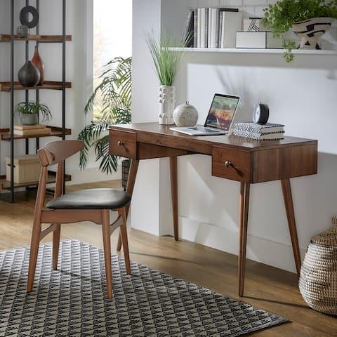 Ahmad Wood 2-Drawer Writing Desk by iNSPIRE Q Modern