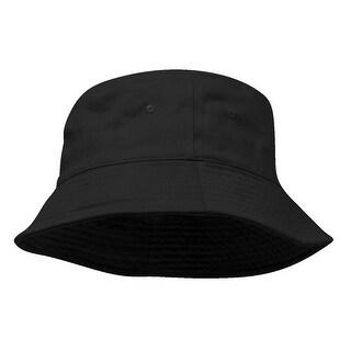 Pigment Dyed Bucket Hat-Black