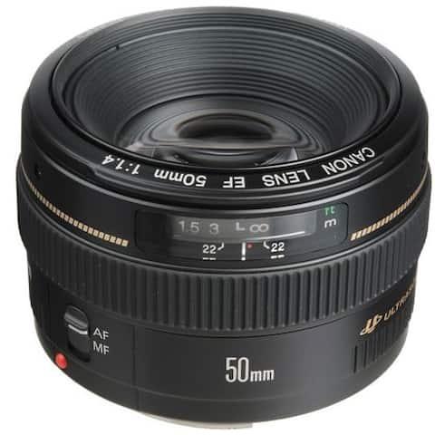 Canon 50mm Lens f/1.4 EF USM Standard Telephoto Lens - Black
