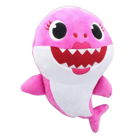 Pinkfong Shark Family 11 Inch Sound Plush - Mommy Shark Pink - Multi