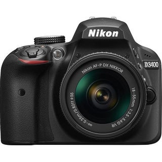 Nikon D3400 DX-Format 24.2MP DSLR Camera with 18-55mm Lens (Black)