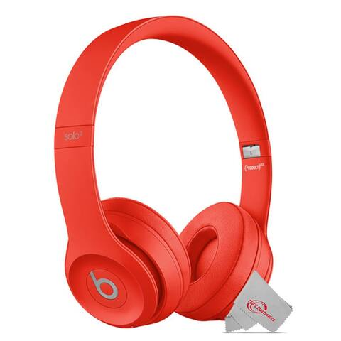 Beats by Dr. Dre Beats Solo3 Wireless On-Ear Headphones with Carrying Case 40 HR Battery Life - Red Limited Addition