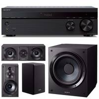 Sony STRDH190 2-ch Stereo Receiver (Phono/Bluetooth) with Speakers and Subwoofer - Black