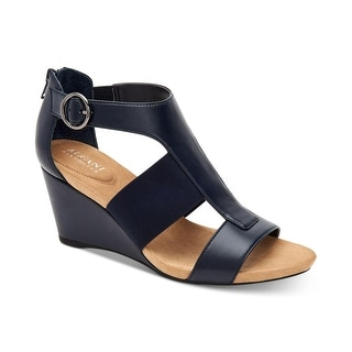 Link to Alfani Womens Pearcee Leather Open Toe Casual Platform Sandals Similar Items in Women's Shoes