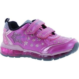 Geox Girls Android Breatheable Fashion Light Up Sneakers