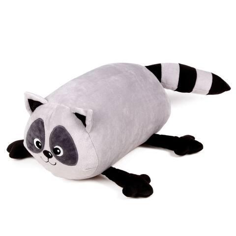 Mooshi Squishy Comfortable Bolster Roll Pillow in Raccoon Design