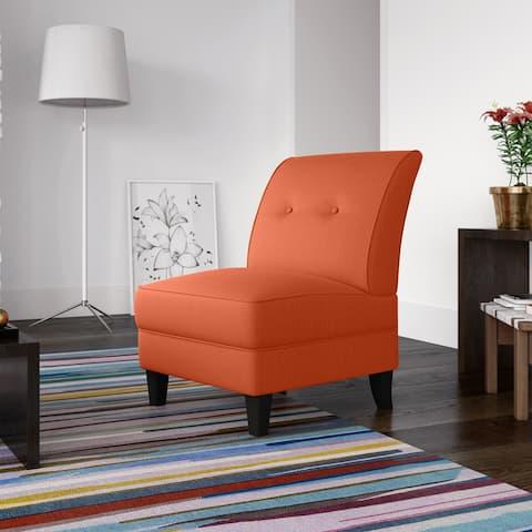 Porch & Den Shoshone Linen Armless Chair