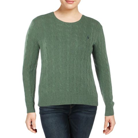 Polo Ralph Lauren Womens Pullover Sweater Wool Ribbed Trim