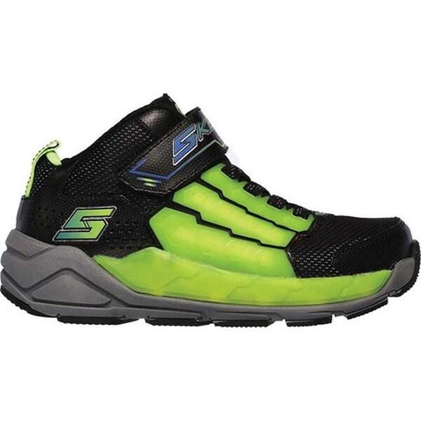 Shop Skechers Boys' S Lights Light Storm Sneaker BlackLime