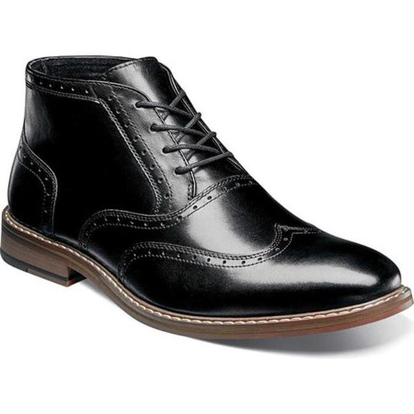 e004e45af19 Shop Stacy Adams Men's Ackerley Wing-Tip Lace-Up Ankle Boot Black ...