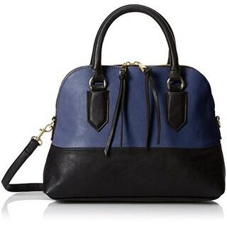 Emilie M. Womens Cheri Faux Leather Colorblock Dome Handbag - Medium