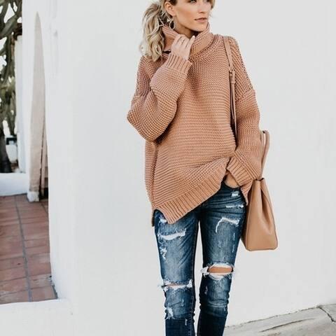 Women's Fashion Long Sleeve Turtleneck Sweater