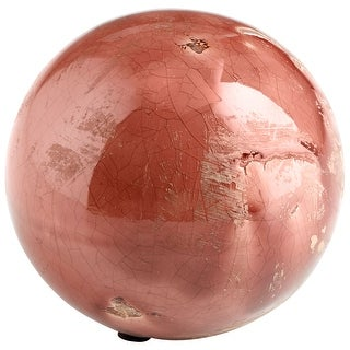 "Cyan Design 09069  Fall 4-1/2"" Diameter Terracotta Decorative Sphere - Heather Rose Glaze"