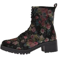 Madden Girl Womens eloisee Fabric Almond Toe Ankle Fashion Boots - 5