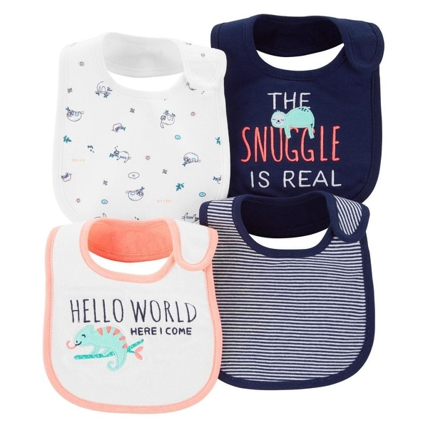 248410839 Shop Carter's Baby Boys' 4-Pack Bibs, Snuggle Is Real - 0 - 3 Months - Free  Shipping On Orders Over $45 - Overstock - 28290629