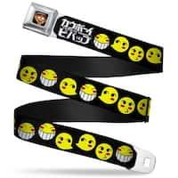 Radical Ed Face Full Color Black Radical Ed Smiley Faces Black Yellow Seatbelt Belt